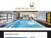 screenshot http://www.hotel-de-la-foret.com hôtel de charme en montagne