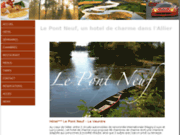 screenshot http://www.hotel-lepontneuf.com/ Hotel restaurant en Allier