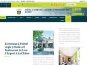 screenshot http://www.hotel-lion-argent.com Hotel restaurant dans le Berry