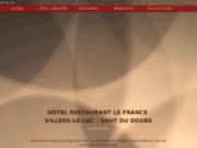 screenshot http://www.hotel-restaurant-lefrance.com hôtel restaurant le france haut-doubs