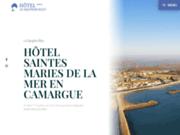 screenshot http://www.hotel-saintes-maries-camargue.fr/ Hôtel en Camargue au Saintes Maries de la Mer