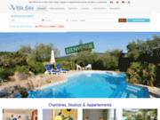 screenshot http://www.hotel-villaelaia.fr hotel de charme à vaison la romaine