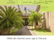 screenshot http://www.hotelleloft-trie.fr/ hôtel de charme près de Mirande