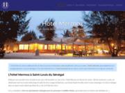 screenshot http://www.hotelmermoz.com l'hôtel mermoz du sénégal