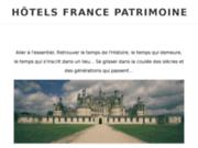 screenshot http://www.hotels-francepatrimoine.fr/ Hôtels historiques France Patrimoine