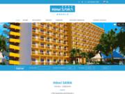 screenshot http://www.hotelsawa.com hôtel sawa - cadre idéal pour vos affaires et votre détente