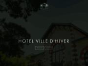 screenshot http://www.hotelvilledhiver.com hôtel restaurant de charme arcachon 33