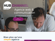 screenshot http://www.hubchannel.fr/ hubchannel - votre agence conseil en communication