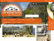 screenshot http://www.huile-olive-aoc-nyons.com les hautes terres de provence
