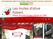 screenshot http://www.huilesrobert.fr huiles d'olive et moulin à beaucaire