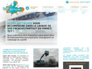 screenshot http://www.hydronetfacade.fr/ nettoyage de façades et nettoyage haute pression