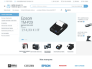 screenshot http://www.idenshop.com vente de lecteur et imprimante code barre