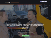 screenshot http://www.idf-epaviste.fr/ reprise de véhicule accidenté