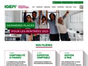 screenshot http://www.igefi.net formation comptable et financière : igefi