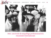 screenshot http://www.imacademy.fr/ IMA - International Makeup Academy