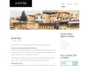 screenshot http://www.immo-fes.com immobilier fes: vente achat et location riad dar masria appartement villa et terrain a fes fez maroc