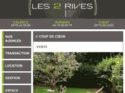 screenshot http://www.immobilier-2rives.fr votre agence immobilière dans l'ardèche