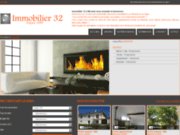 screenshot http://www.immobilier32.com agence immobiliere auch.