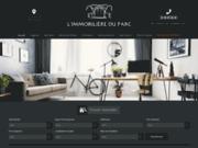 screenshot http://www.immoparc.fr l'immobilière du parc - quimper - location - vente