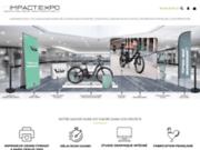 screenshot http://www.impactexpo.com impression de banderole et kakémono publicitaire