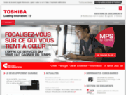 screenshot http://impression.toshiba.fr solution d'impression ged copieur toshiba