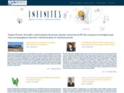 screenshot http://www.infinites.fr Infinités Communication Relations Presse Franchise