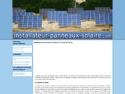 screenshot http://www.installateur-panneaux-solaire.com financement et installation de panneaux solaire