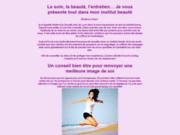 screenshot http://www.institut-beaute-aquamarine.fr l'institut de beauté bio, détente et soins, à chaville, sèvres, viroflay, 92 78