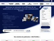 Logiciel de création de catalogues interactifs et automatisation de la mise en page
