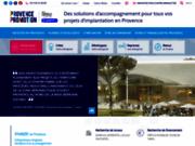 screenshot http://www.investinprovence.com/fr_FR/accueil.html Accompagnement à la création d'entreprise