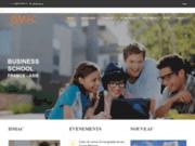 screenshot http://ismac.fr/fr/ école de commerce ouverte à l'Asie
