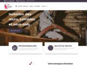 screenshot http://isolation-soufflage-est.fr Isolation par soufflage de l'est : Votre spécialiste dans les Vosges