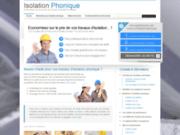 Devis gratuit travaux d'isolation phonique