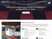 screenshot https://izifloor.fr/ Izifloor, fabricant français de dalles de sol garage et revêtement de sol