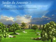 screenshot http://www.jardindusouvenir.fr/ jardin du souvenir, cimetiere virtuel en ligne