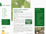 screenshot http://www.jardinsimaginaires.com Paysagiste