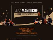 screenshot http://www.jazz-manouche.clementreboul.com Groupe de jazz manouche pour mariage et événements