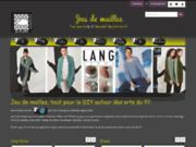 screenshot http://www.jeudemailles.com jeu de mailles, les arts du fil