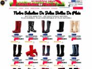 screenshot http://www.joliesbottesdepluie.fr achat en ligne de bottes de pluie caoutchouc