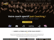 screenshot http://www.justcoaching.fr/ justcoaching