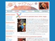 screenshot http://www.jyjou.com jyjou le clown, mime-acteur, comédien, magicien, mime et fleur !