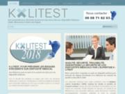 screenshot http://www.k-litest.fr contrôle défibrillateur languedoc roussillon