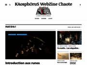 screenshot http://www.kaosphorus.net kaosphorus webzine.