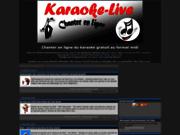 screenshot http://www.karaoke-live-paroles.com/ karaoké français gratuit
