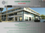 screenshot http://www.karika.fr/ agence immobilière
