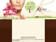 screenshot http://www.karine-estheticienne.com soin mains à ledignan - esthéticiennes à domicile