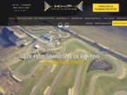 screenshot http://www.kartingarvillers.fr/ Karting Haute Picardie