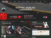 screenshot http://www.kartup.com kart'up: karting et laser game pour tous