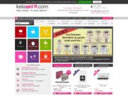 screenshot http://www.keladeco.com vente  d'objets ludiques, colorés et design
