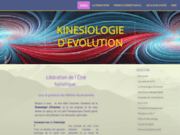 screenshot http://www.kinesiodevolution.com kinésiologie d'evolution